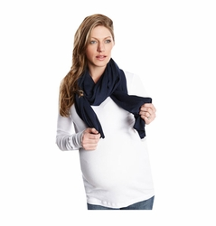 Maternal America Solid Color Nursing Cover Scarf
