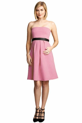 SOLD OUT Maternal America Strapless Vegan Suede Trim Cocktail Dress