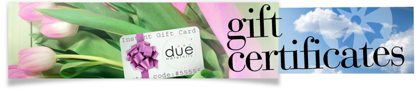 Maternity Gift Certificates