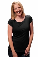 SOLD OUT Milkstars Jenny Scoop Neck Nursing Tee With Cap Sleeves