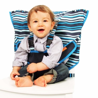 TEMPORARILY OUT OF STOCK  My Little Seat Travel Highchair - Hudson Stripe