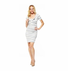NOM Maternity Nursing Snap Short Sleeve Dress