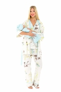 SOLD OUT Olian Anne 5 Piece Mom And Baby Maternity Nursing Pajama Gift Set - Floral Sprigs