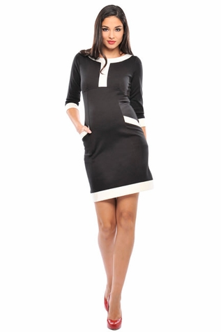 SOLD OUT Olian Caroline Ponte Pocket Maternity Dress