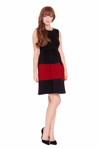 SOLD OUT Olian Caroline Sleeveless Color Block Maternity Dress