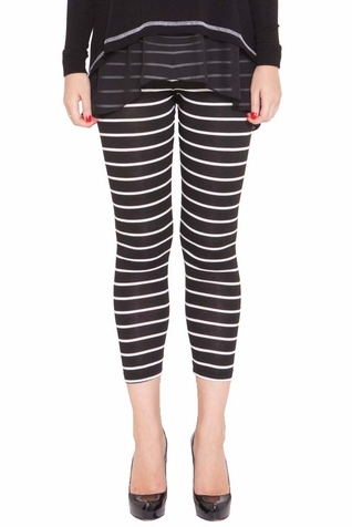 SOLD OUT Olian Daisy Cropped Maternity Striped Legging