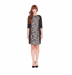 Olian Eloise Lace Inset Maternity Cocktail Dress
