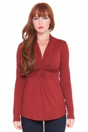SOLD OUT Olian Joey Gathered Front Long Sleeve Maternity Top