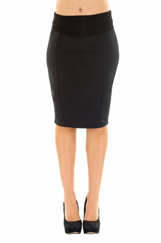SOLD OUT Olian Kate Career Back Pleated Pencil Skirt
