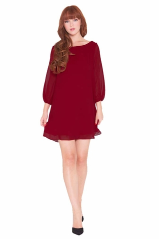 Olian Leah Chiffon Maternity Tunic Dress