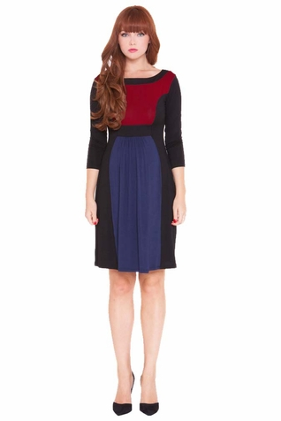 SOLD OUT Olian Lucy Color Block 3/4 Sleeve Maternity Dress