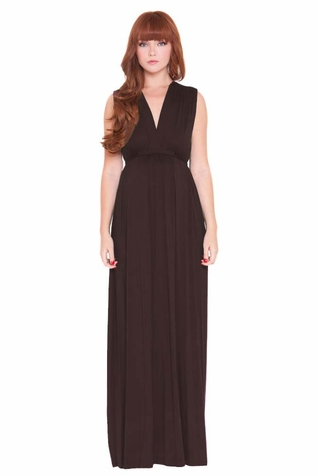 SOLD OUT Olian Lucy Deep V Neck Maternity And Nursing Maxi Dress