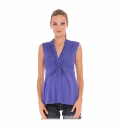 SOLD OUT Olian Lucy Knot Front Maternity Top - Sleeveless