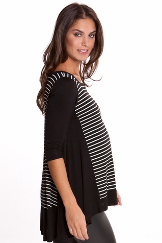 SOLD OUT Olian Mandy Maternity Hi Lo Scoop Neck Top