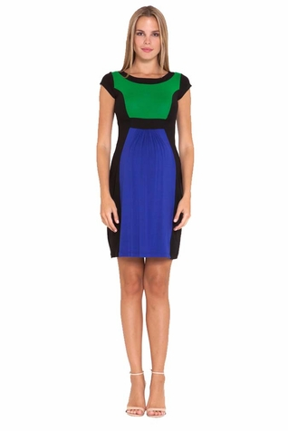 SOLD OUT Olian Margarette Color Block Cap Sleeve Maternity Dress