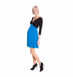 Olian Margarette Color Block Maternity Dress