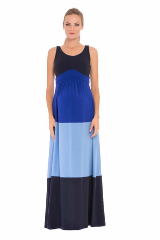 SOLD OUT Olian Margarette Color Block Maternity Maxi Dress