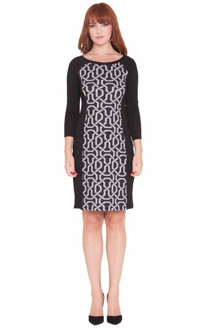 Olian Michelle Geometric Print Maternity Dress