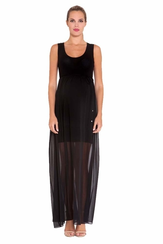 SOLD OUT Olian Patti Chiffon Maternity Maxi Dress