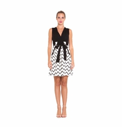 SOLD OUT Olian Sandra Chevron Print Ponte Maternity Dress