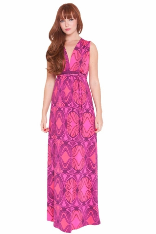 SOLD OUT Olian Suzy Deep V Neck Maternity Nursing Maxi Dress