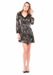 Olian Tamara Maternity Tunic Silk Blend Burnout Dress