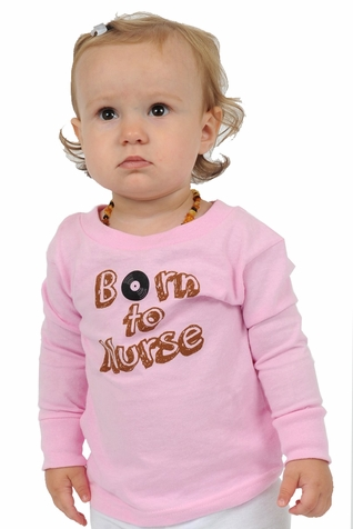 "One Creative Mama Long Sleeve Tee ""Born To Nurse"""