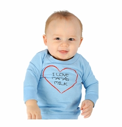 "One Creative Mama Long Sleeve Tee ""I Love Mama's Milk"""