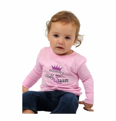 """One Creative Mama Long Sleeve Tee """"Mommy Is My Dairy Queen"""""""