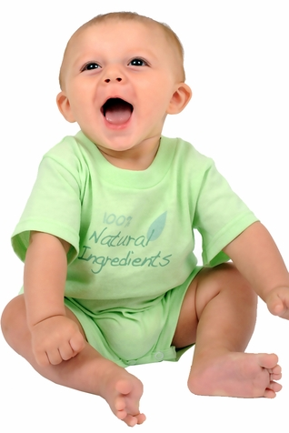 "One Creative Mama Short Romper ""100% Natural Ingredients"""