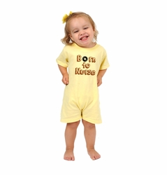 "One Creative Mama Short Romper ""Born To Nurse"""