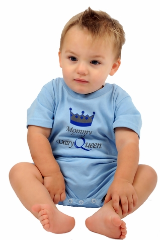 "One Creative Mama Short Romper ""Mommy Is My Dairy Queen"""