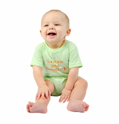 "One Creative Mama Short Romper ""Sunshine Love Mama's Milk"""