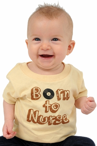"One Creative Mama Short Sleeve Tee ""Born to Nurse"""