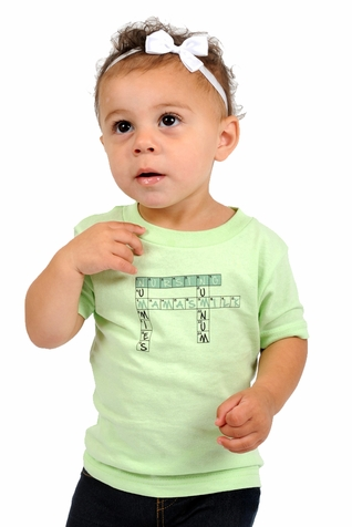"One Creative Mama Short Sleeve Tee ""Crossword Puzzle"""