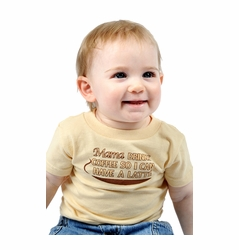 """One Creative Mama Short Sleeve Tee """"Mama Drinks Coffee So That I Can Have A Latte"""""""