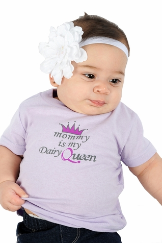 "One Creative Mama Short Sleeve Tee ""Mommy Is My Dairy Queen"""