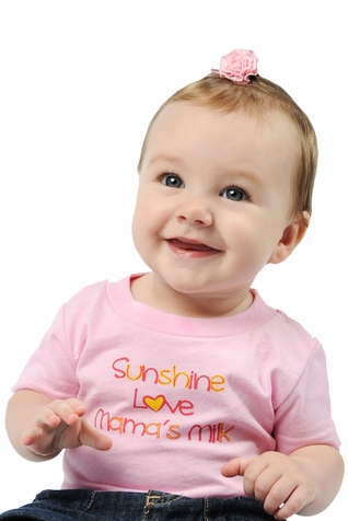 "One Creative Mama Short Sleeve Tee ""Sunshine Love Mama's Milk"""