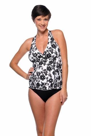 SOLD OUT Prego Curve-kini Maternity Tankini Swimsuit - Print