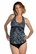 SOLD OUT Prego Tie Halter Maternity Tankini - Print