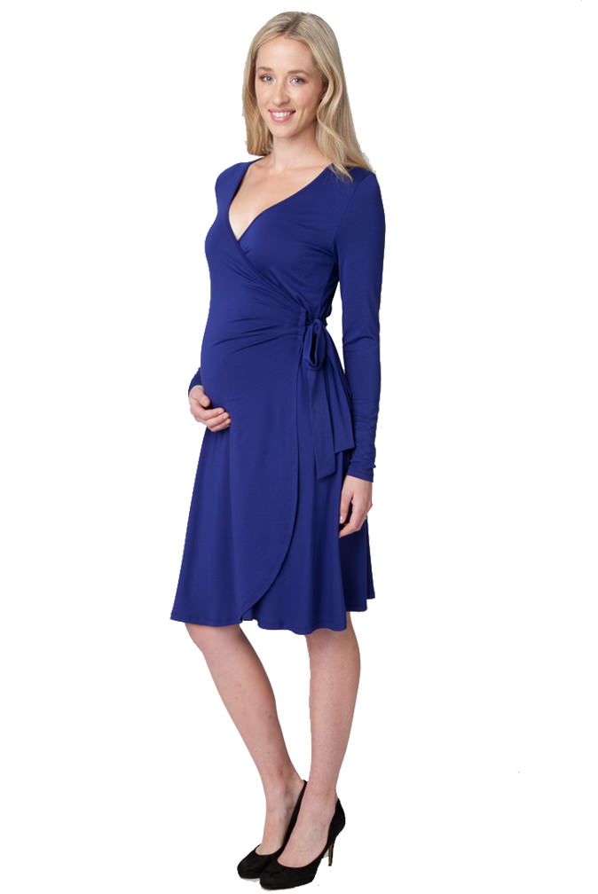 Ripe Maternity Gia Long Sleeve Wrap Dress   Maternity Clothes on ...