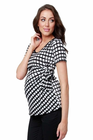 Ripe Maternity Side Tie Maternity - Short Sleeve