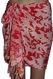 Santiki Short Sarong - Pink/Orange Snake