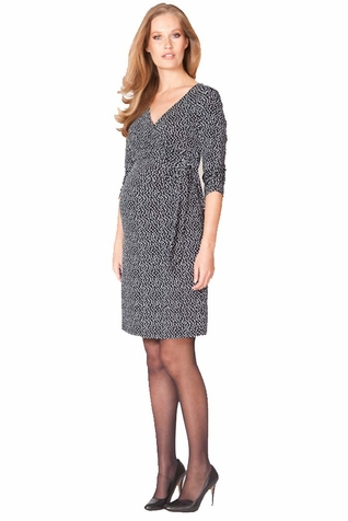 SOLD OUT Seraphine 3/4 Sleeve Renata Faux Wrap Maternity Nursing Dress