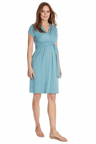 TEMPORARILY OUT OF STOCK Seraphine Abbey Wrap Tie Maternity Dress