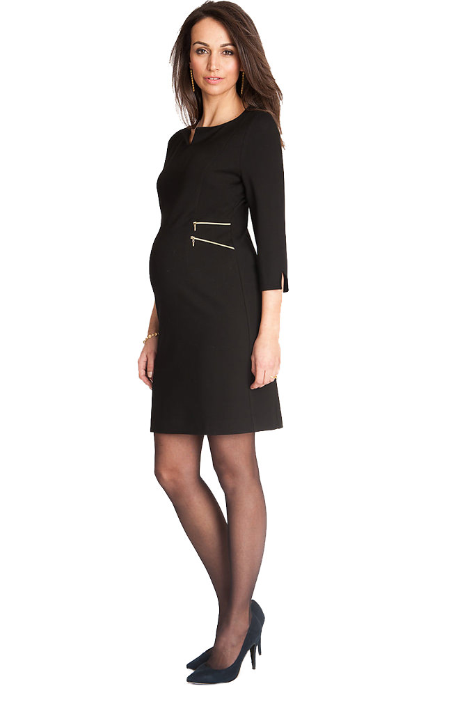 4a21357482 Seraphine Audrey Double Side Zipper Maternity Dress