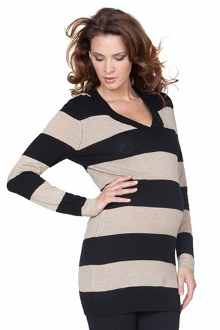 Seraphine Celeste V Neck Maternity Tunic Sweater