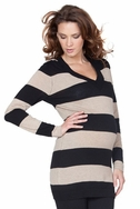SOLD OUT Seraphine Celeste V Neck Maternity Tunic Sweater