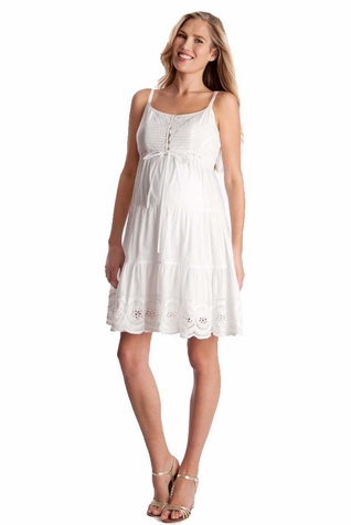 SOLD OUT Seraphine Elizabeth Cotton Lace Maternity Dress