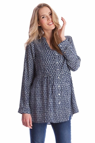 SOLD OUT Seraphine Fern Maternity Nursing Button Down Blouse